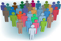 Group company or population symbol people colors Royalty Free Stock Photo
