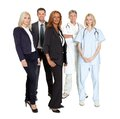 Group of confident working people Royalty Free Stock Photos