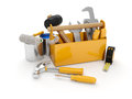 A group of construction tools Stock Image
