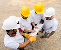Group of construction workers Royalty Free Stock Photo