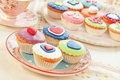 Group of cupcakes. Royalty Free Stock Photo