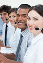 A group of customer service agents Stock Images
