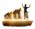 Group cyclist bicycle race sport illustration Royalty Free Stock Photo