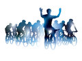 Group cyclist bicycle race sport illustration Royalty Free Stock Photos