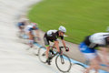 Group Of Cyclists Motion Blur In Race At Atlanta Velodrome Royalty Free Stock Photo