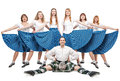 Group of dancers of Scottish dance Royalty Free Stock Photo