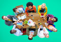 Group of Diverse Designers Having a Meeting Concept Royalty Free Stock Photo