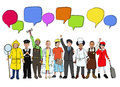 Group of Diverse Kids with Different Occupations Royalty Free Stock Photo