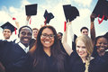 Group of Diverse Students Celebrating Graduation Concept Royalty Free Stock Photo