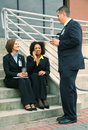 Group Of Diversity Business People Talking Royalty Free Stock Photo