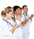 Group of doctors applauding Royalty Free Stock Image