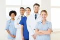 Group of doctors and nurses at hospital Royalty Free Stock Photo