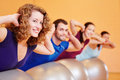 Group doing fitness exercises Royalty Free Stock Photography