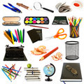 Group of education theme objects Stock Images