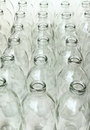 Group of empty glass bottles can be recycled Royalty Free Stock Photos