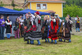 Group entremonta�as virgen de la cuesta in the traditional dance at santo buelna spain june with regional costumes Royalty Free Stock Images