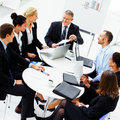 Group of executives having a meeting Royalty Free Stock Photos