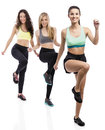 Group exercise classes Royalty Free Stock Photo