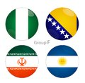 Group f nigeria bosnia iran argentina and herzegovina at world cup Stock Photos