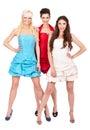 Group of fashion girls Royalty Free Stock Photos