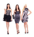 Group of fashion models Royalty Free Stock Photography