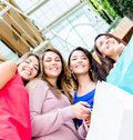 Group of female shoppers Stock Photography