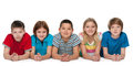 Group of five happy children Royalty Free Stock Photo