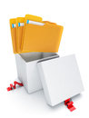 Group folders out of the open box Stock Photography