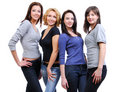 Group of four happy smiling women Royalty Free Stock Image
