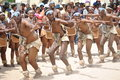 Group  of frenzied African dancers doing what they love the most Royalty Free Stock Photo