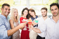 Group of friends having cocktail at the party Stock Photos
