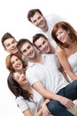 Group friends having fun smiling Royalty Free Stock Images