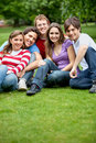Group of friends outdoors Royalty Free Stock Image