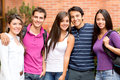 Group of friends smiling Royalty Free Stock Image
