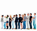 Group of friends standing in a row , copyspace Royalty Free Stock Image