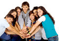 Group of friends united Royalty Free Stock Images