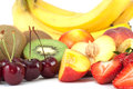 Group of fruits isolated on white background Stock Photography