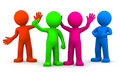 Group of fun colorful 3D characters Stock Photography