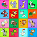 Group of funny animals vector cartoon isolated characters Stock Photo