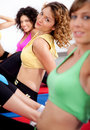Group of girls working out Royalty Free Stock Images