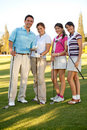 Group of golf players Stock Photography