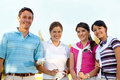 Group of golf players Stock Image