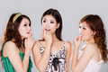 Group of gossip girls Royalty Free Stock Photography
