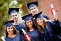 Group of graduate students Royalty Free Stock Image