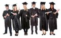 Group of graduate students Stock Images