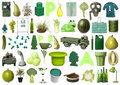 Group of Green Objects Royalty Free Stock Photo