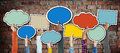 Group Hands Holding Speech Bubbles Concept Royalty Free Stock Photo