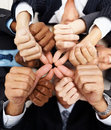 Group of hands showing thumbs up sign Stock Photography