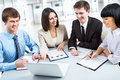 Group of happy business people in a meeting at office Royalty Free Stock Photography