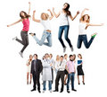 Group of happy cheerful people Stock Photography